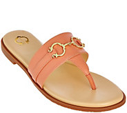 As Is C. Wonder Leather Thong Sandals w/Hardware Annabelle - A286369