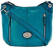 As Is Tignanello Large Grain Pebble Leather Crossbody Bag - A289769