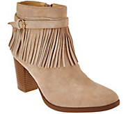 As Is C. Wonder Suede Ankle Boots with Fringe - Willa - A291069