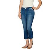 G.I.L.I. Crop Flare Denim Jeans - A292769