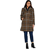 Isaac Mizrahi Live! Houndstooth Coat with Removable Hood - A296569