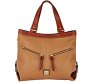 As Is Dooney & Bourke Pebble Leather Sara Shoulder Bag - A299269