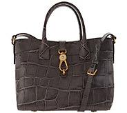Dooney & Bourke Croco Embossed Leather Large Amelia Tote Handbag - A300769