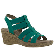 Bella Vita Fabric and Leather Wedge Sandals - Ravenna - A336069