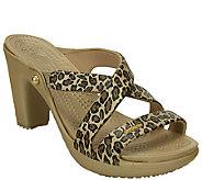 Crocs Croslite Slip-On Heel Sandals - Cyprus Leopard - A336369