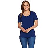 Denim & Co. Essentials Perfect Jersey Short Sleeve Top - A215870