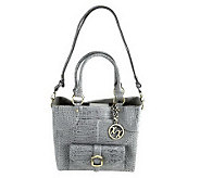 Maxx New York Croco Embossed Leather Small Shopper - A222670