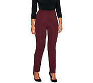 Susan Graver Petite Lustra Knit Pull-On Pants - A257970