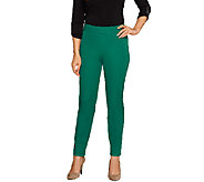 Isaac Mizrahi Live! Regular 24/7 Stretch Side Zip Ankle Pants - A258770