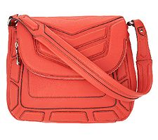 As Is Aimee Kestenberg Leather Flap Front Should...
