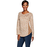 Denim & Co. Animal Printed Raglan Sleeve Scoop Neck Top - A267970