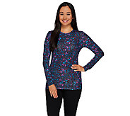 Cuddl Duds Softwear Stretch Long Sleeve Crew Neck Shirt - A268470
