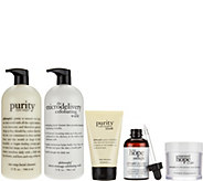 philosophy supersize cleanse, treat & renew set - A271770