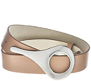 H by Halston Leather Belt with Adjustable Closure - A272170
