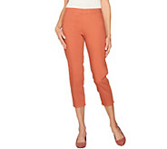 LOGO by Lori Goldstein Pull-On Knit Twill Crop Pants - A275770