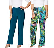 Attitudes by Renee Tall Printed and Solid Knit Pants Set - A276070