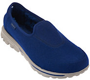As Is Skechers GOwalk Wool Faux Fur Shoes w/Memory Foam - Ease - A278670