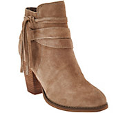 Sole Society Suede Ankle Boots w/ Tassel Detail - Rumi - A279870