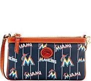 Dooney & Bourke MLB Nylon Marlins Large Slim Wristlet - A281670