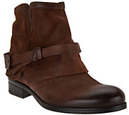 Miz Mooz Leather Ankle Boots w/ Strap Detail - Seymour - A282870