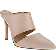 As Is H by Halston Leather Slip-On Pointed Toe Heel - Scarlett - A283570