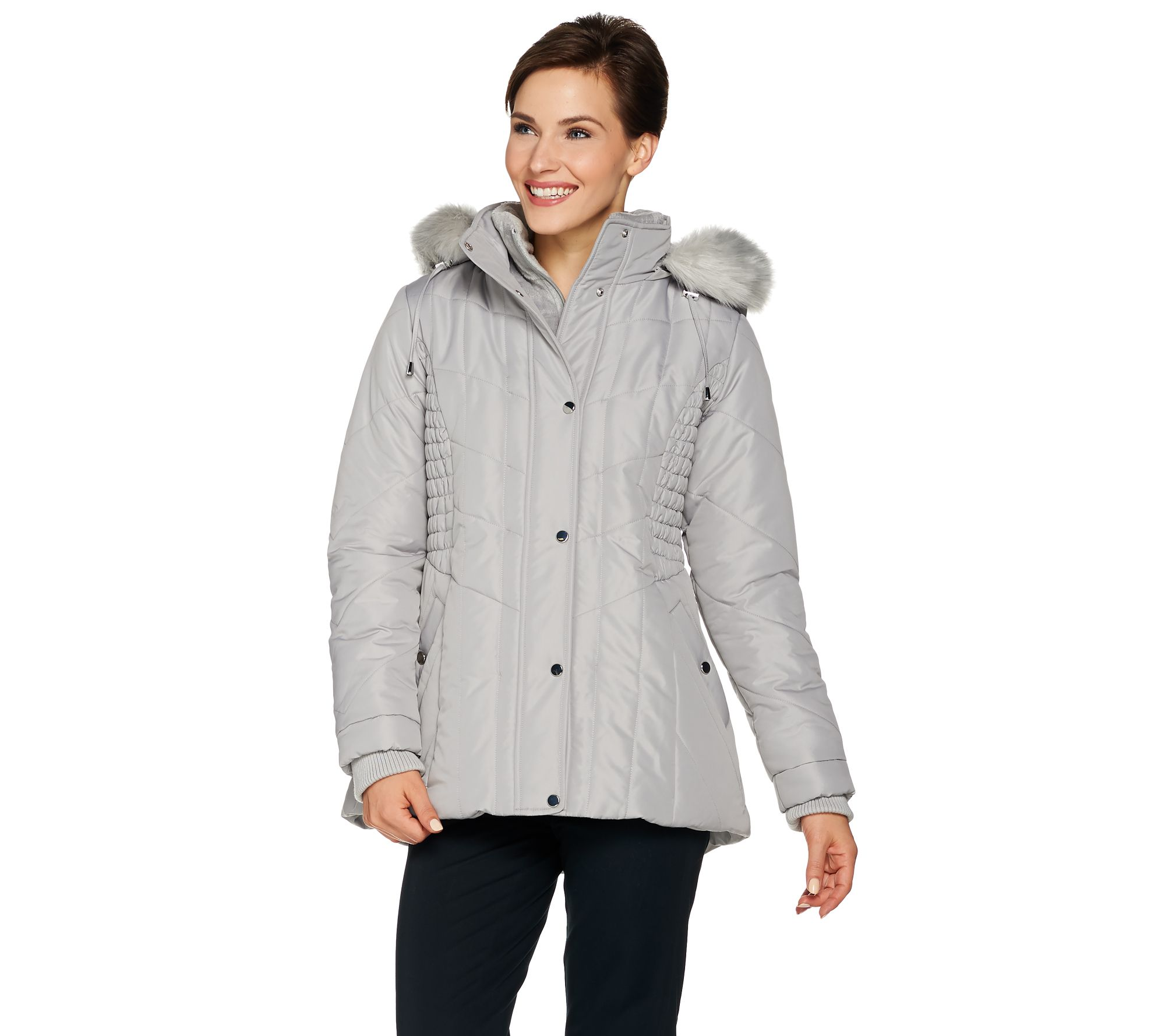 The North Face Coat With Faux Fur Trimmed Hood Scoop