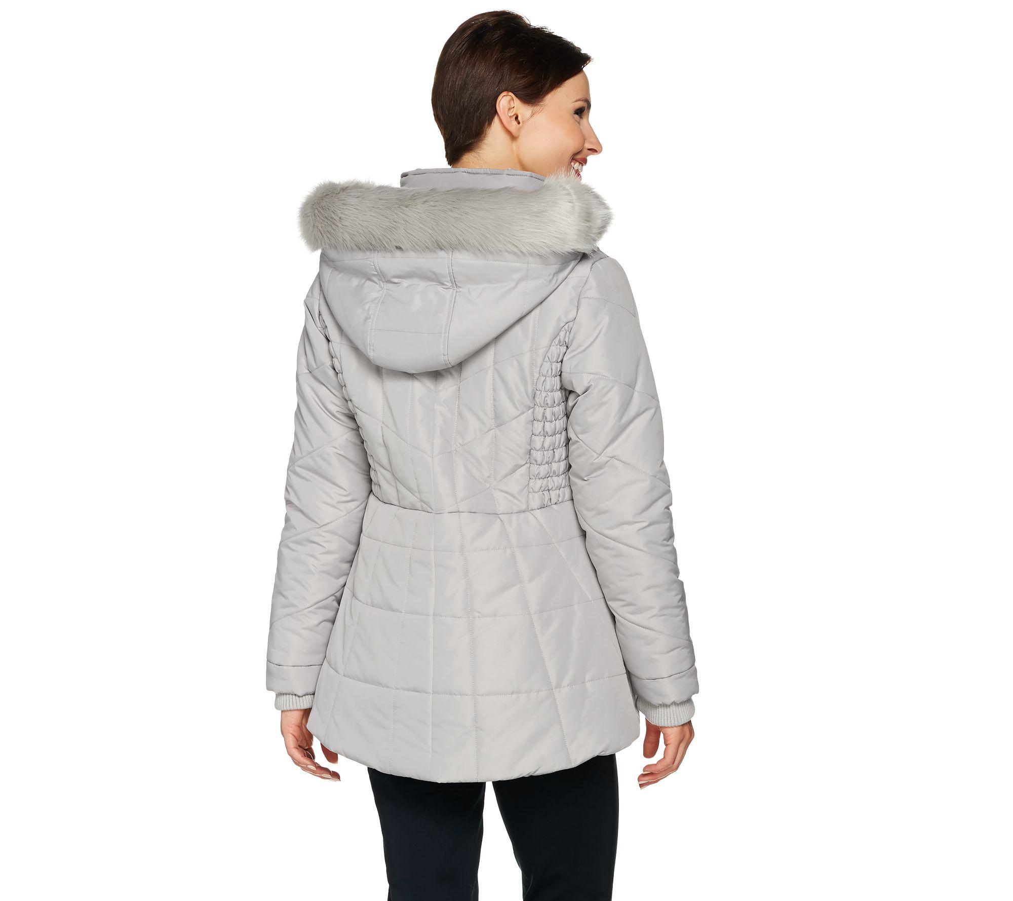 White Fur Hood Coat Fashion Women S Coat 2017