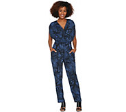Attitudes by Renee Petite Faux Wrap Knit Jumpsuit - A290770