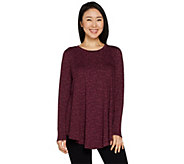 AnyBody Loungewear Cozy Knit Demi-Swing Top - A293070