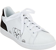 ED Ellen DeGeneres Leather Graphic Sneakers - Chapanima - A293770