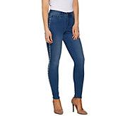 Martha Stewart Petite Faux Pearl 5-Pocket Ankle Jeans - A301070