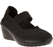 Bernie Mev Basket Weave Wedge Mary Janes - Fresh Lulia - A304470