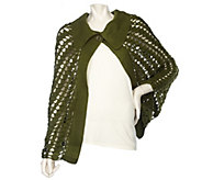 As Is Accessory Network Pointelle Cape with Collar - A307070