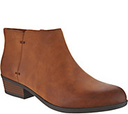 As Is Clarks Leather Embossed Ankle Boots- Addiy Zora - A308170