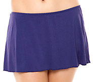 Simply Sole Solid A-Line Skirted Panty Swim Skirt - A332470