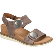 Comfortiva Leather Wedge Sandals - Pamela II - A357470