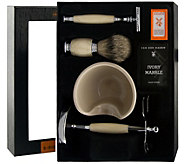 Van Der Hagen Ivory Marble Shave Set - A362870