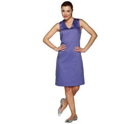 Isaac Mizrahi Live Pique Sleeveless Dress —