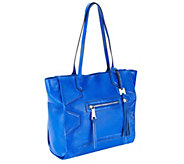 Aimee Kestenberg Pebble Leather Tote with Front Zipper Pocket - A236371