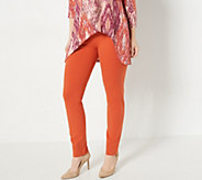 Women with Control Regular Slim Leg Ankle Pants w/ Waist Seams - A239671