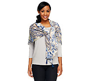 Nicole Richie Collection Printed Handkerchief Scarf w/ Tassel - A251671