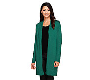 Isaac Mizrahi Live! Open Front Sweater Coat - A256471