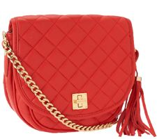 Isaac Mizrahi Live! Bridgehampton Quilted Lamb Leather Bag