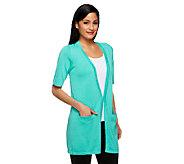 As Is Joan Rivers Wardrobe Builders (R) Short Sleeve Cardigan - A260171