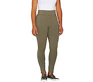 LOGO by Lori Goldstein Petite Knit Ankle Pants with Tulip Hem - A262371