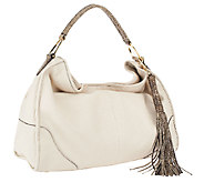 As Is G.I.L.I Chelsea Pebble Leather Hobo - A263671