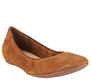 As Is Isaac Mizrahi Live! Suede Flats with Hidden Comfort Wedge - A264071