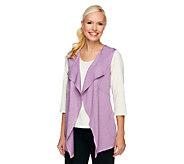 As Is LOGO Lounge by Lori Goldstein Cascade Vest with Pockets - A269871