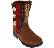 Alegria Suede & Knit Mid-calf Boots w/ Faux Fur - Nanook - A271871