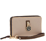 As Is Dooney & Bourke Samba Zip Around Credit Card Phone Wristlet - A272071